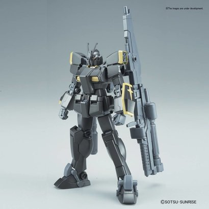 "BAN - Bandai Gundam 221286 Gundam Lightning Black Warrior ""Gundam Build Fighters"", Bandai HGBF 1/144"