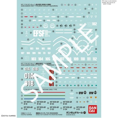 "BAN - Bandai Gundam 221293 GUNDAM DECAL No.113 Multi-Use ""MOBILE SUIT GUNDAM THE ORIGIN"" Bandai Decals"