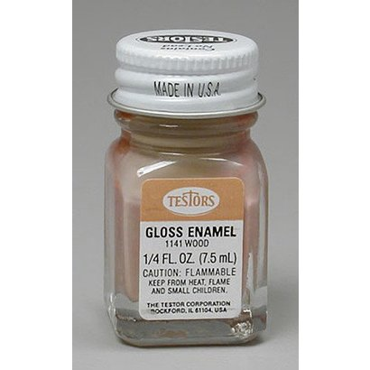 TES - Testors 1141 Enamel 1/4 oz Natural Wood