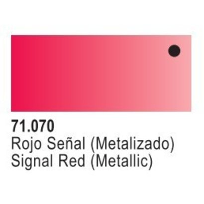 VLJ-VALLEJO ACRYLIC PAINTS 71070 TURN-SIGNAL RED METAL 17ML - Model Air