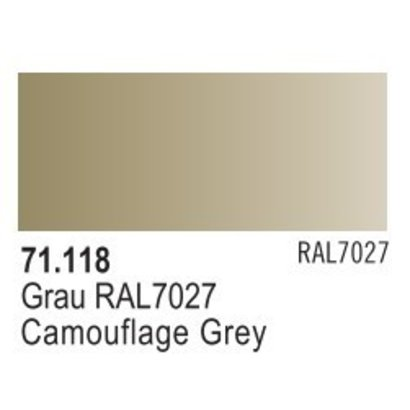 VLJ-VALLEJO ACRYLIC PAINTS 71118 CAMOUFLAGE GRAY             17ML - Model Air