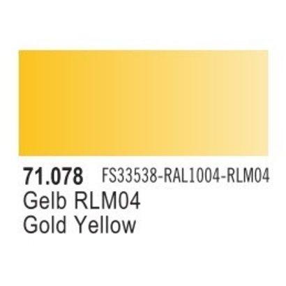 VLJ-VALLEJO ACRYLIC PAINTS 71078 RLM04 YELLOW 17ML - Model Air
