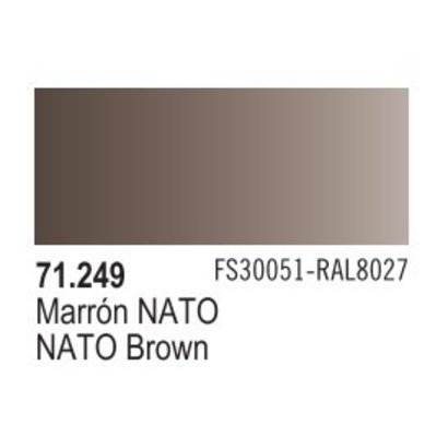 VLJ-VALLEJO ACRYLIC PAINTS 71249 NATO BROWN 17ML - Model Air