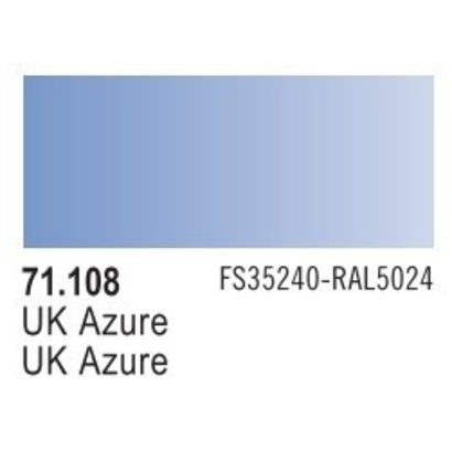 VLJ-VALLEJO ACRYLIC PAINTS 71108 UK AZURE  17ML - Model Air