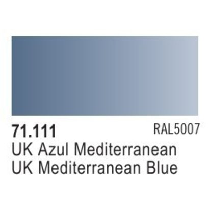 VLJ-VALLEJO ACRYLIC PAINTS 71111 UK MEDITERRANEAN BLUE  17ML - Model Air