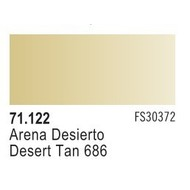 VLJ-VALLEJO ACRYLIC PAINTS DESERT TAN 686 - Model Air