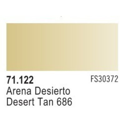 VLJ-VALLEJO ACRYLIC PAINTS 71122 DESERT TAN 686 17ML - Model Air