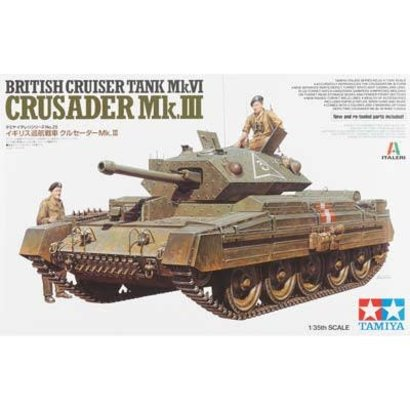 TAM - Tamiya 865- 37025 1/35 British Mk.VI Crusader Mk.III Cruiser Tank