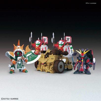 """BAN - Bandai Gundam BB410 DianWei Asshimar  JiaXu Ashtaron Siege Weapon & Six Combining Weapons Set A """"BB Senshi Sangokuden"""" Bandai SD"""