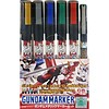 GNZ-Gunze Sangyo GMS121 Gundam Marker Metallic Set of 6