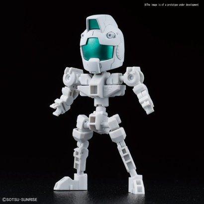 "BAN - Bandai Gundam 225765 Cross Silhouette Frame (White) ""Mobile Suit Gundam"", Bandai SDGCS"
