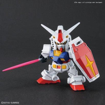 "BAN - Bandai Gundam 228381 RX-78-2 Gundam & Cross Silhouette Frame ""Mobile Suit Gundam"", Bandai SDGCS"