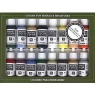 VLJ-VALLEJO ACRYLIC PAINTS Basic USA Colors Paint Set