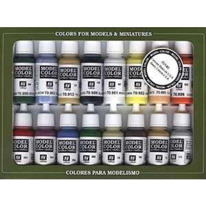 VLJ-VALLEJO ACRYLIC PAINTS VJ70140 - Basic USA Colors - Vallejo Paint Set