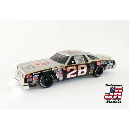 Salvinos JR Models baker28 1/25 Oldsmoble 442 Plastic Model Kit Buddy Baker's Gray Ghost – 1980 Winner