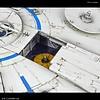 "BAN - Bandai Gundam 225754 Millennium Falcon (Lando Calrissian Ver.) ""Solo: A Star Wars Story"", Bandai Star Wars 1/144 Plastic Model Kit"
