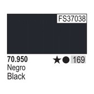VLJ-VALLEJO ACRYLIC PAINTS 70950 BLACK                       17ML