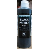 VLJ-VALLEJO ACRYLIC PAINTS 74602 - BLACK PRIMER ACRY-POLY      200ML