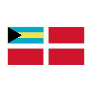 "HUM Bahamas Courtesy Flag 12"" x 18"" - Nylon"