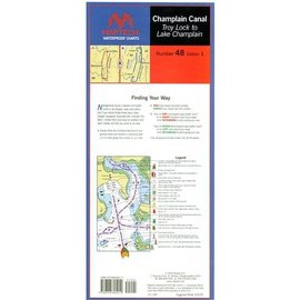 MTP Champlain Canal Waterproof Chart by Maptech WPC048