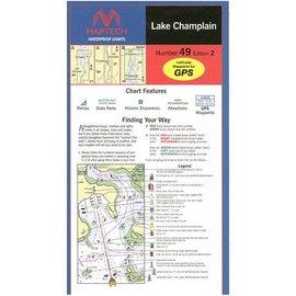 MTP Lake Champlain Waterproof Chart by Maptech WPC049