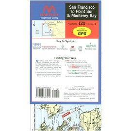 MTP San Francisco to Point Sur & Monterey Bay Waterproof Chart by Maptech WPC120