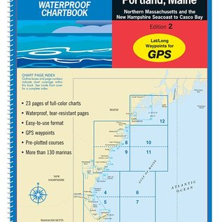 MTP Cape Ann, MA to Portland, ME Waterproof Chartbook by Maptech WPB0230-0
