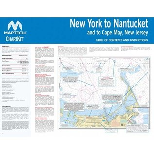 MTP ChartKit 3 New York to Nantucket inc. Cape May, NJ by Maptech