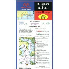 MTP Block Island to Nantucket Waterproof Chart by Maptech WPC019