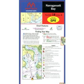 MTP Narragansett Bay  Waterproof Chart by Maptech WPC018