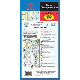 MTP Upper Chesapeake Bay Waterproof Chart by Maptech WPC025