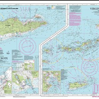 W&P I-I A23 Virgin Islands, including St. Croix chart by Imray-Iolaire