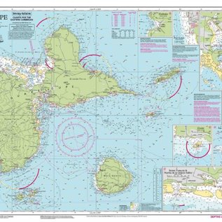 W&P I-I A28 Guadeloupe chart by Imray-Iolaire