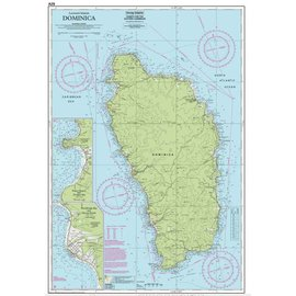 W&P I-I A29 Dominica chart by Imray-Iolaire