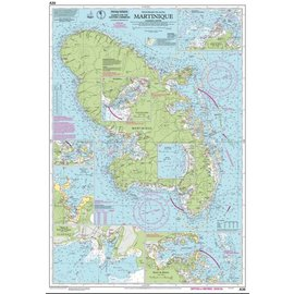 W&P I-I A30 Martinique chart by Imray-Iolaire