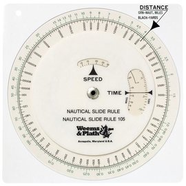 W&P Nautical Circular Slide Rule W&P 105
