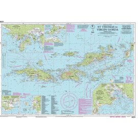 W&P I-I A231 Virgin Islands,  St. Thomas to Virgin Gorda chart by Imray-Iolaire