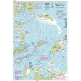 W&P I-I A232 Virgin Islands, Tortola to Anegada chart by Imray-Iolaire