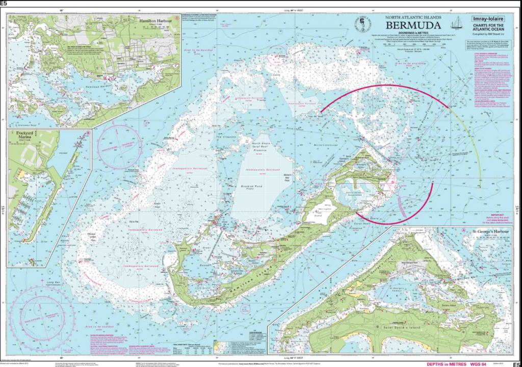 IMR II E Bermuda Islands Chart By ImrayIolaire Pilothouse - Bermuda islands map