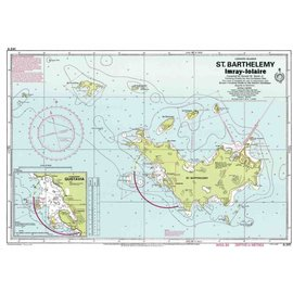 W&P I-I A241 St. Barthelemy (St. Barts) chart by  Imray-Iolaire