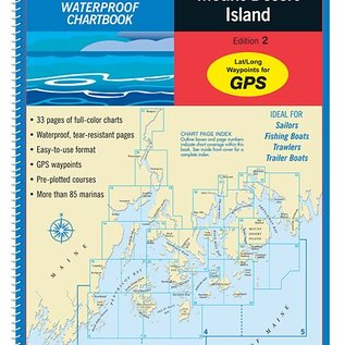 MTP Penobscot Bay to Mt. Desert Island, ME Waterproof Chartbook by Maptech WPB210