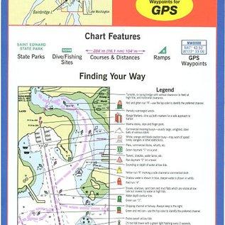 MTP Seattle and Lake Washington Waterproof Chart by Maptech WPC101