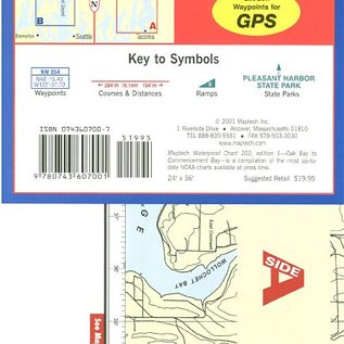 MTP Oak Bay to Commencement Bay Waterproof Chart by Maptech WPC102