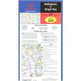 MTP Bellingham to to Skagit Bay Waterproof Chart by Maptech WPC107