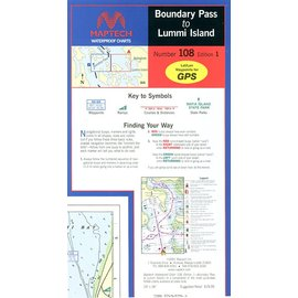 MTP Boundary Pass to Lummi Island Waterproof Chart by Maptech WPC108
