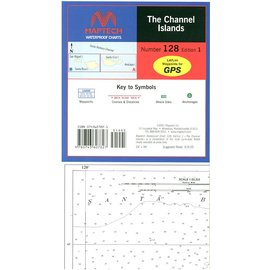 MTP Channel Islands Waterproof Chart by Maptech WPC128