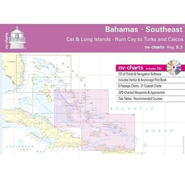 NP NV Charts Region 9.3 Bahamas South East, Cat & Long Islands, Rum Cay to Turks and Caicos