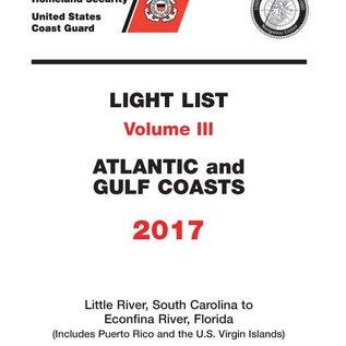 GPO USCG Light List 3 2017 Little River SC to Esconfina River FL