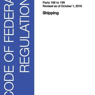 GPO CFR46 Volume 7 Parts 166 to 199 Shipping 2016