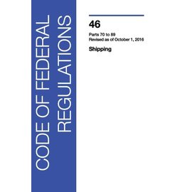 GPO CFR46 Volume 3 Parts 70-89 Shipping 2016